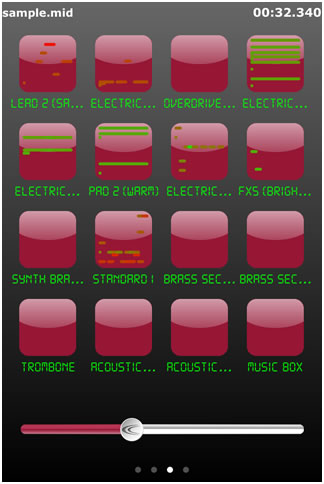 CrimsonTec.アプリm16 シークバー