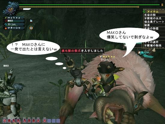 桃毛獣の裂爪01