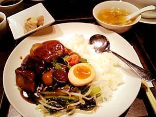 過門香 重慶式豚角煮あんかけ御飯セット
