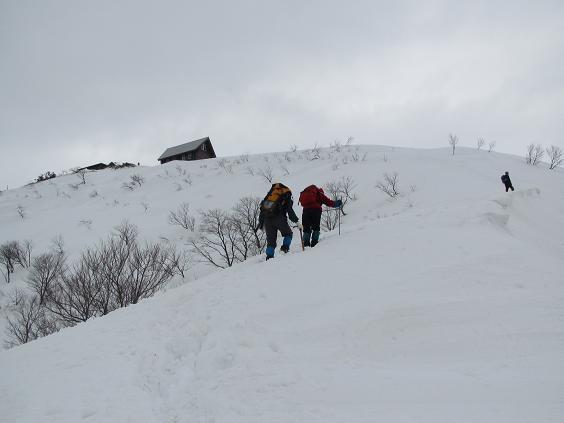 山頂手前の登り