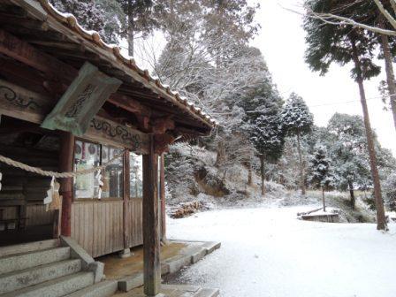 周方神社 雪