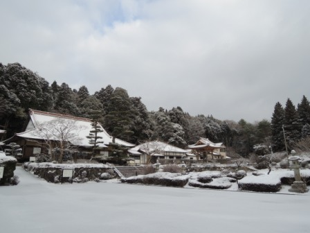 龍文寺 雪
