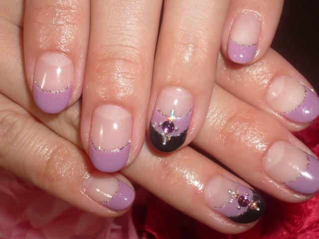 紫×ブラック☆アナスイ風ネイル