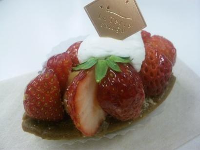おいしいケーキ ラ テール セゾン いちごのタルト 110125
