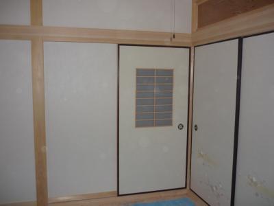 和室入口とフスマ(畑邸)