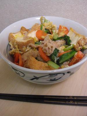 厚揚げ豚小松菜丼_convert_20100521220335