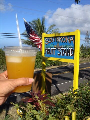 Lilikoi Lemonade at South Kona Fruit Stand