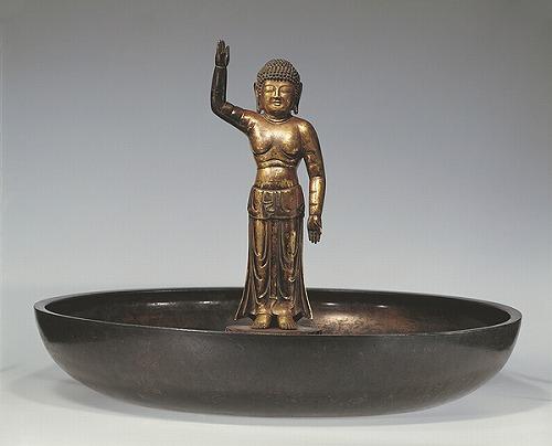 誕生釈迦仏立像及び潅仏盤