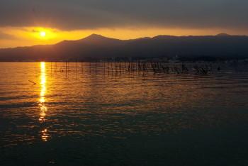 叡山を望む