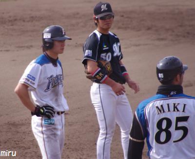 遥輝くんと翔太選手と三木コーチ