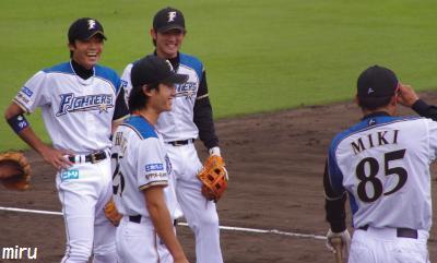三木コーチと内野陣