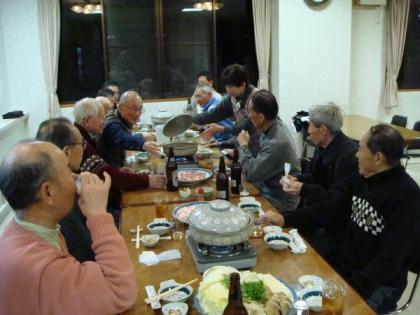 大平山荘で夜食