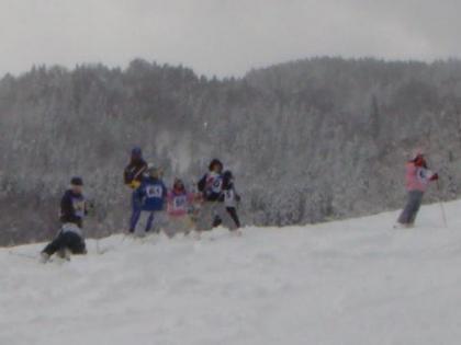 スキー教室風景