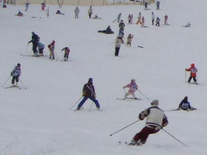 スキー教室の中へ