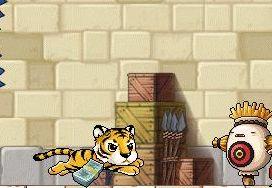 かかしの中にトラ?
