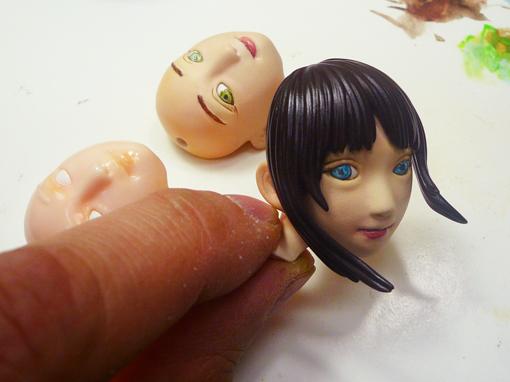 顔の塗装2