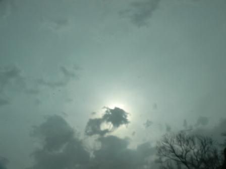 秋吉台で豪雨