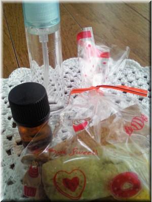 アロマオイルとハーブクッキー