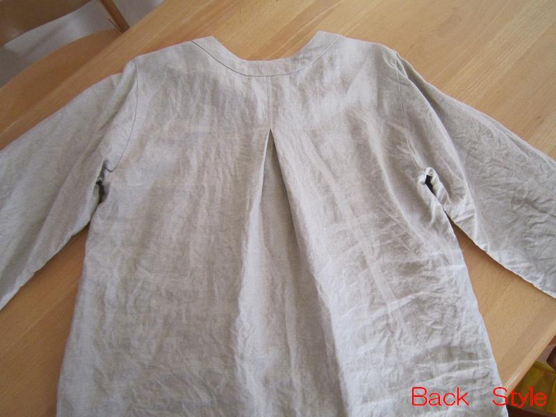 リネンプルオーバー back style