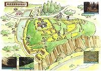 新府城跡のイラスト