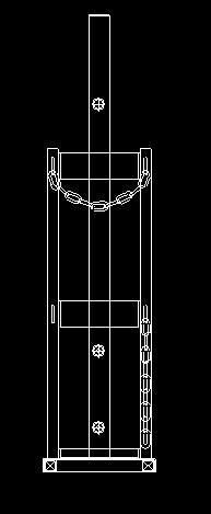 ボンベ架台図面