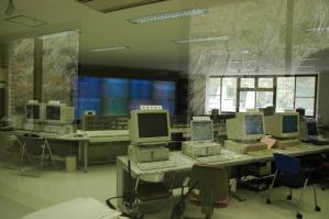 大夢来館制御指令室