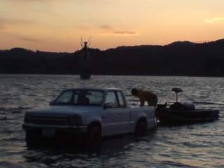 20091115 高滝ダム 遠浅のスロープ(小)