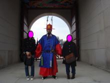韓国景福宮3ショット