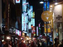 韓国明洞夜2