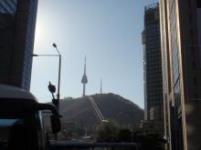韓国昼のソウルタワー