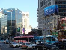 韓国昼の明洞1