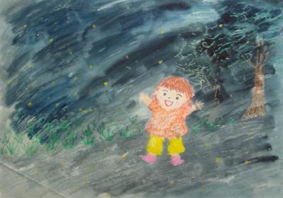 2009年 夏 ホタルの絵