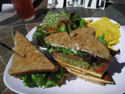 Lunch - tofu sandwich