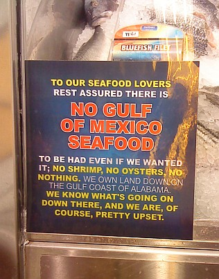 No seafood from the Gulf