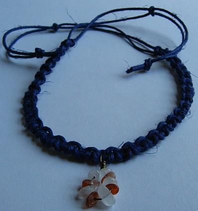 indigo sun-moon necklace