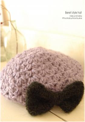 Beret style hat