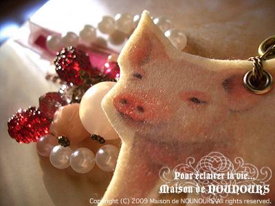 子豚のバッグチャーム