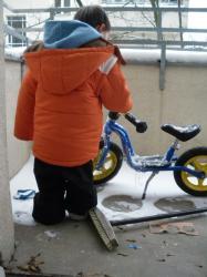 bici en la terraza