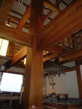 0111花扇欅柱