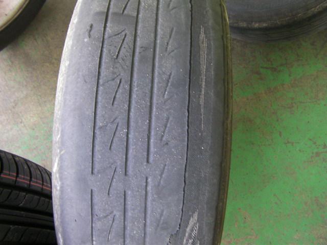 タイヤの摩耗状況