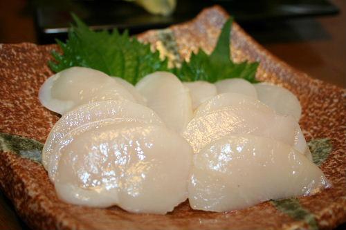 タイラギ貝のお刺身