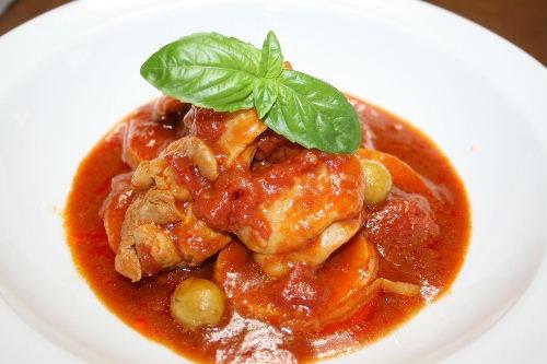 たけのこと鶏のトマト煮