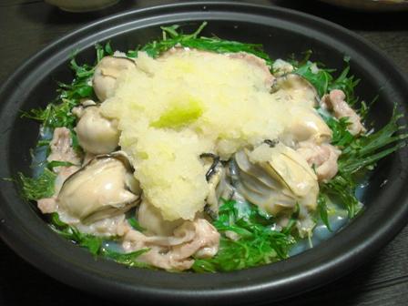 水菜豚バラ牡蠣タジン