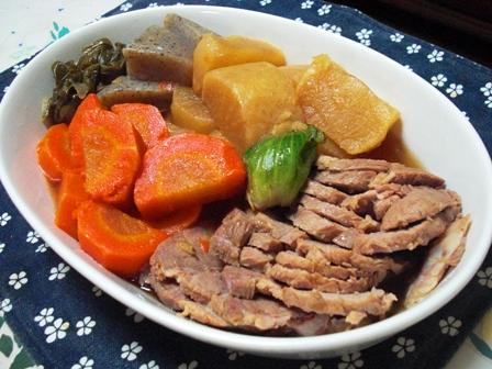 煮豚と煮物