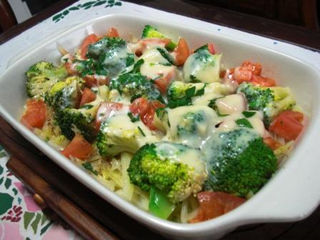 お野菜のチーズ蒸し