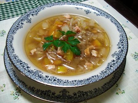 ベーコンもやしのスープ