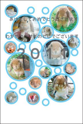 ウサギ 年賀状
