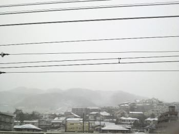 最寄り駅 雪景色