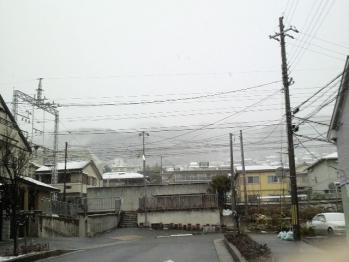 山側 雪景色