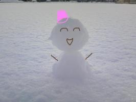 手作り雪だるま